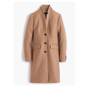 NEW J. Crew Regent Top Coat 14 Large wool peacoat
